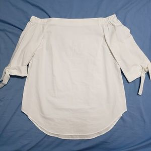Aritzia White Off Shoulder Top